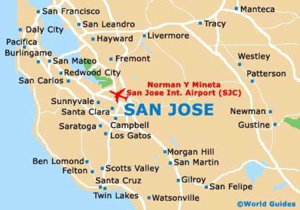 San Jose Map - Where We Serve